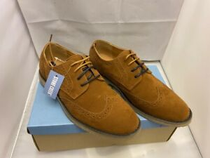 Mens Stone Creek Brown Tan Lace Up Faux Suede Smart Shoes Brogues Sizes uk 7 41