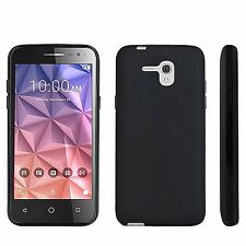 "For Alcatel One Touch Fierce XL,Jitterbug SMART 5.5"" Slim TPU Black Cover Case"