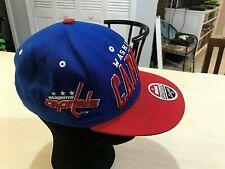 16801bab1c4d5d Washington Capitals Zephyr Cap Blue Red Snapback Hockey NHL Hat Wool  Acrylic OS