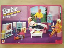 Barbie So Much to Do Living Room Accessories Furniture Complete 1995 Mattel NIB