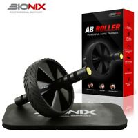 Ab Wheel Roller With Knee Mat Abdominal Core Exercise Fitness Crunch Training