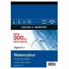 Daler Rowney Aquafine Watercolour Painting Paper Pad 12 Sheets NOT 300gsm A4