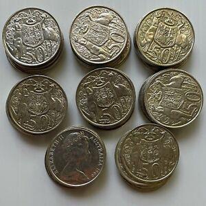 1966 Australian Round 50 Cent 80% Silver Coins X 40