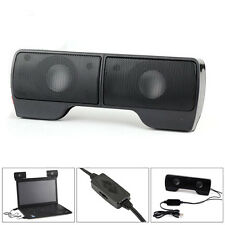 A Pair 3.5mm Stereo Speaker USB 2.0 Power Hanging Loudspeaker for Laptops PC Mac