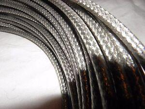 Brems Außenhülle Silber Geflochten Bowdenzug  Teflon Beschichtet  1m Rolle 15806