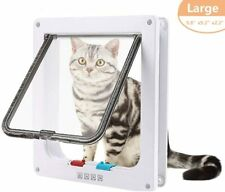 4 Way Locking Lockable Pet Cat Door Puppy Dog Door Magnetic Flap Door Gate Large