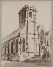 Eglise à identifier Art gothique France Vintage albumine ca 1880