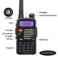 Fast! BaoFeng UV-5R Plus + Earphone VHF/UHF Dual Band FM 5W Ham Two-Way Radio
