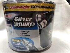 "Pocket Hose Silver Bullet 50 FT  3/4"" Diameter Expanding Hose. Black. New!"