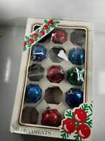 Vintage Lot of 8 Glass Christmas Ornaments Rauch Ind for Kmart Multi-Colored