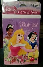 Disney Princess Thank you Cards NEW 8 card Set BIRTHDAY PARTY Accessories
