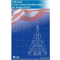 GALAXY D48004 1/48 F-14A Tomcat Die-cut Flexible Mask for Tamiya 61114 Model Kit