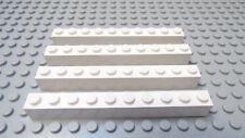 LEGO Lot/4 1x10 WHITE Brick 8088 7744 10221 7191 7498 6598 10157 10158 8375 5891