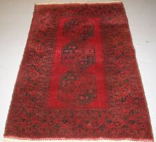 OLD AFGHAN VILLAGE RUG, VERY HARD WEARING, GOOD COLOUR, CIRCA 1900.