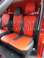 VAUXHALL VIVARO 2015 SWB VAN SEAT COVERS RED LEATHERETTE MADE TO MEASURE
