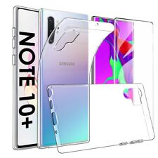 For Samsung Galaxy Note10+ (Plus) Case Gel Cover & Full Glass Screen Protector