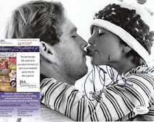 RYAN  O'NEIL   W/  TATUM  O'NEIL   SIGNED  AUTO  8X10  PHOTO  JSA  M60287  KISS
