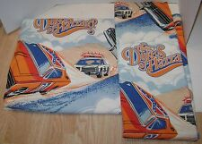 VINTAGE PAIR OF DUKES OF HAZZARD LINED CURTAINS DRAPES WARNER BROS 1982 NICE