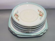 Noritake fine bone china porcelain from Japan blue gold rim pink x6 replacement