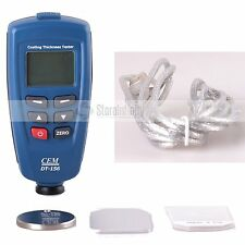 CEM DT-156 Pro Paint Coating Thickness Meter Gauge Auto F/NF Probe Tester 1250um