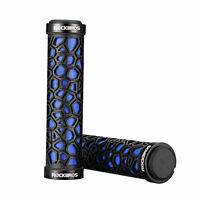 ROCKBROS Double Lock-on Bicycle Handlebar Grips MTB BMX Fixed Gear Bike Blue