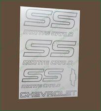 CHEVROLET Monte Carlo SS 1987-1988 Logo Premium Restoration Decals Stickers Set