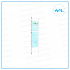 Window Display, Acrylic Cable Kits System, Signage for Real Estate,5xA4L