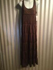 NWT Alfani Womens Long Brown Sleeveless Nightgown Medium $59
