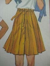 Vtg Women Paneled Skirt Drawstring Waist Sewing Pattern Simplicity 5480 Sz14