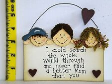 (I Could Search The World) Wall Plaque Christmas Gift Ideas for Her & Mum