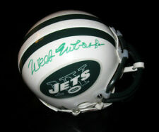 WEEB EWBANK SIGNED NEW YORK JETS MINI HELMET AUTOGRAPH JSA