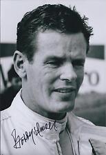 Bobby Unser SIGNED Indianapolis Raceway Portrait 12x8 Photo AFTAL COA Autograph