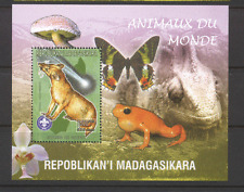 Madagascar 1999 Mongoose/Butterfly/Fungi/Orchid/Animals/Nature m/s (n12140)