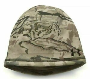 New Under Armour UA Reversible Camo Brown Beanie Coldgear Realtree One Size $35