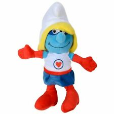 "15"" Superhero Blue Smurf Tv Film Character Soft Plush Cuddly Toy - Super Smurf"