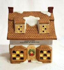 Seymour Mann Christmas Village House Fish Shop S Karp and Sons 1990 Ceramic 6""