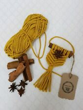 Cinnamon stick and star anise macrame christmas decoration/hanging wall decor