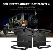 Pair Rear Tail Light Lamp Guard Cover Protect for Jeep Wrangler TJ YJ 1987-2006