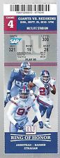 2016 NFL WASHINGTON REDSKINS @ NEW YORK GIANTS FULL UNUSED FOOTBALL TICKET