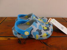 CROCS INFANT / KIDS CLASSIC LIGHT GREY CAMOUFLAGE CHOOSE SIZE NEW WITH TAGS