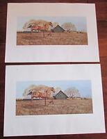 "Lot of 2 Ancel E. Nunn ""Equine Gilded"" 1982 Art Print 22""x15.5"" Carousel Horse"