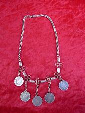schöne,alte Trachtenkette__Charivari__5 alte Münzen 1874-1976 Reichsmark__!