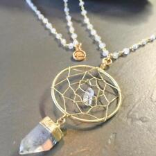 Crystal Quartz + Dream Catcher Chain Necklace