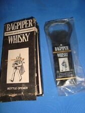 Old vintage Plastic Metal Bagpiper Whisky  Bottle Opener with Box from India 198