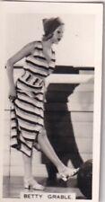 "BETTY  GRABLE -carreras HOLLYWOOD ""film stars"" PIN-UP/CHEESECAKE 1938 cig card"
