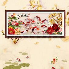 Chinese Diamond Embroidery 5D Paintings 9 Fish DIY Cross Stitch Wall Decoration