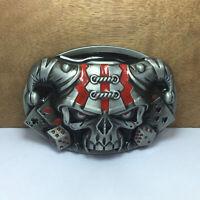 New Men's Western Motorcycle Punk Rock Cowboy Alloy Leather Belt Buckle #03692
