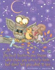 Best Teachers Owl-Handcrafted School Fridge Magnet-w/Mary Engelbreit art