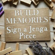 Alternative Guest Book ❤️Wedding Sign❤️ Build Memories Jenga Sign