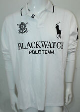 Polo Ralph Lauren Big Black Watch Classic-Fit L-Sleeved Polo Shirt XL NWT White